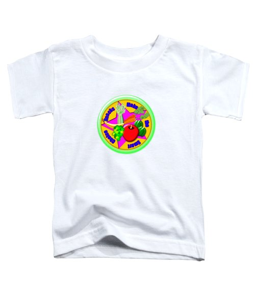Smart Snacks Toddler T-Shirt by Linda Lindall