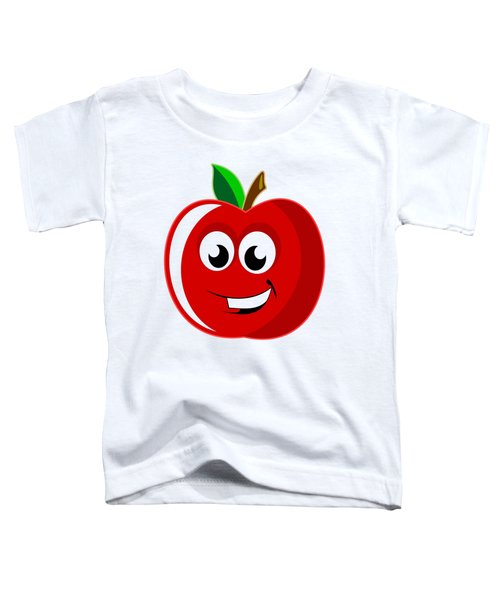 Smiley Tomato With Changeable Background  Toddler T-Shirt by Sebastien Coell