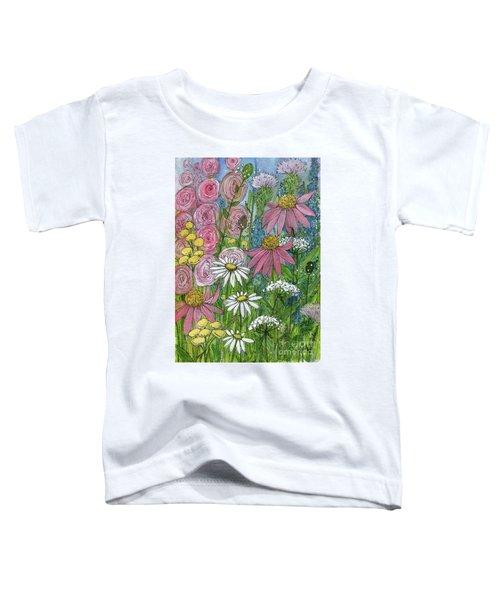 Smiling Flowers Toddler T-Shirt