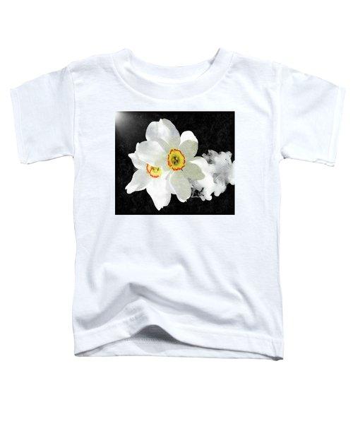 Smokey White Floral Toddler T-Shirt