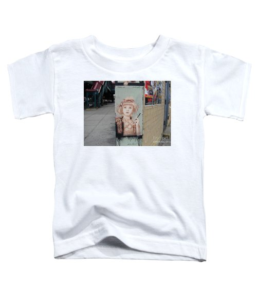 Smoking Girl  Toddler T-Shirt by Cole Thompson