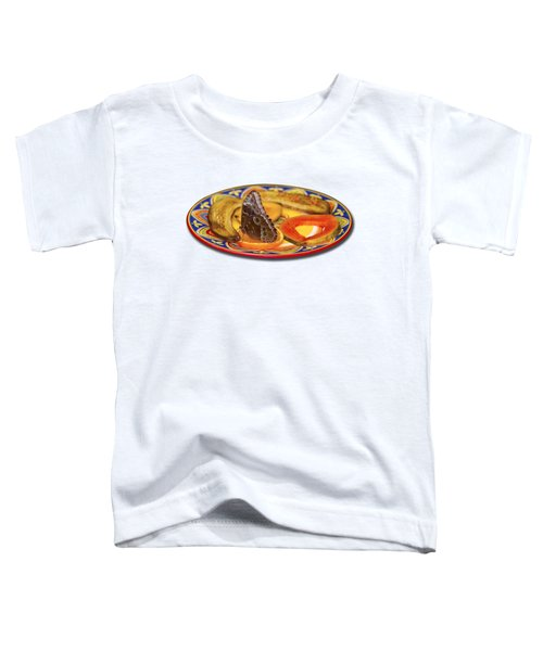 Snacking Butterfly Toddler T-Shirt by Bob Slitzan