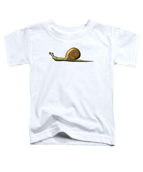 Snail Toddler T-Shirt by Michal Boubin