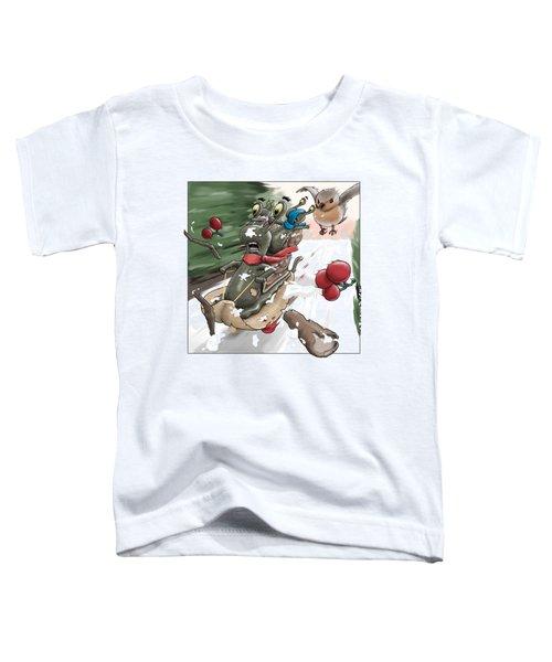 Snails Go Sledging Toddler T-Shirt