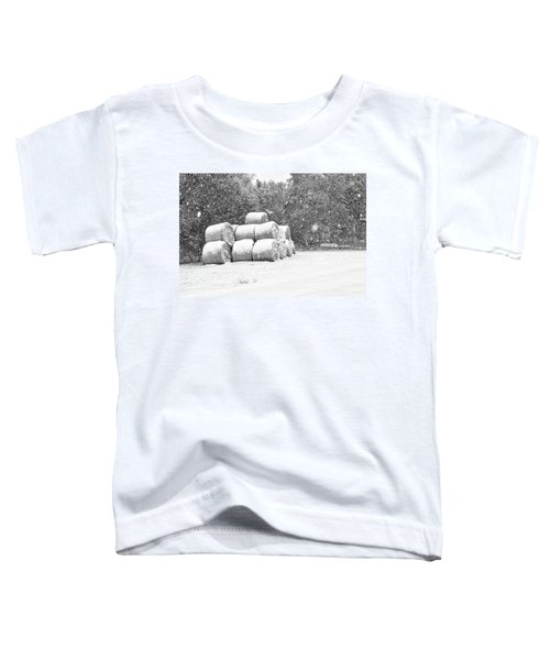 Snow Covered Hay Bales Toddler T-Shirt