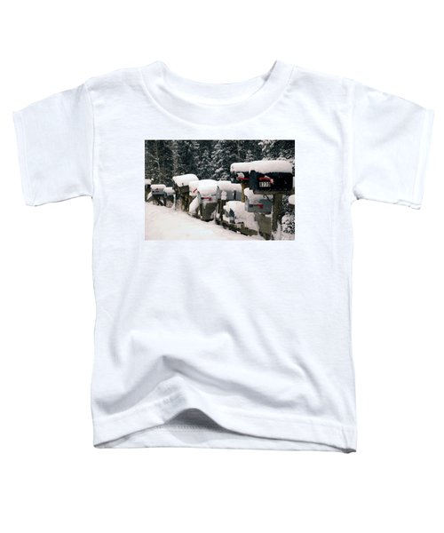 Snow Covered Mailboxes Toddler T-Shirt
