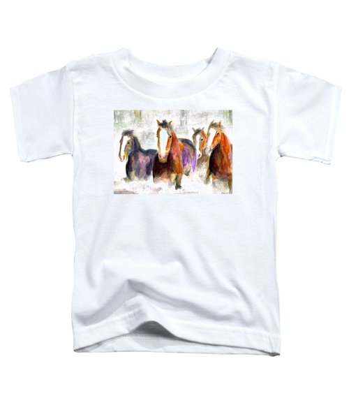 Snow Horses Toddler T-Shirt