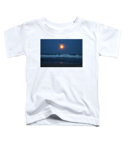 Snow Moon Ocean Waves Toddler T-Shirt