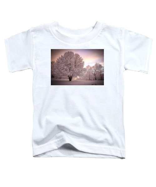 Snow Tree At Dusk Toddler T-Shirt