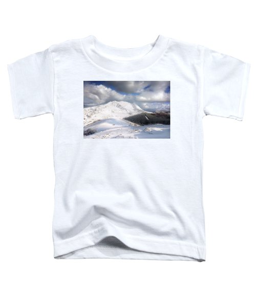 snowy Anboto from Urkiolamendi at winter Toddler T-Shirt