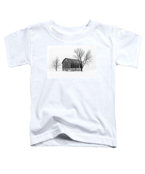 Snowy Little Barn Toddler T-Shirt