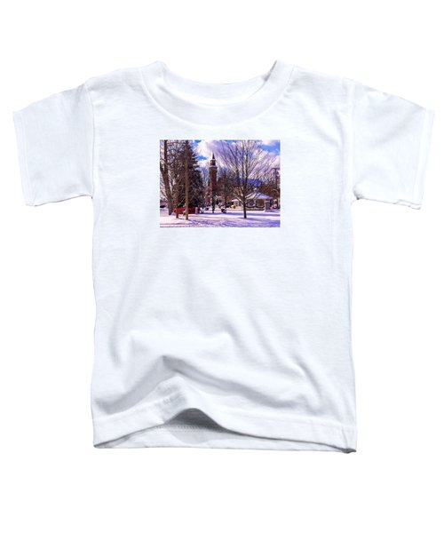 Snowy Old Town Hall Toddler T-Shirt