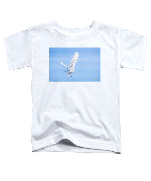 Snowy Owls Soaring Toddler T-Shirt