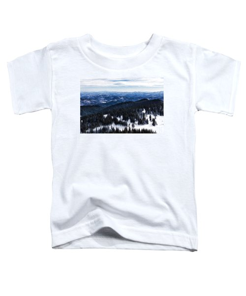 Snowy Ridges - Impressions Of Mountains Toddler T-Shirt