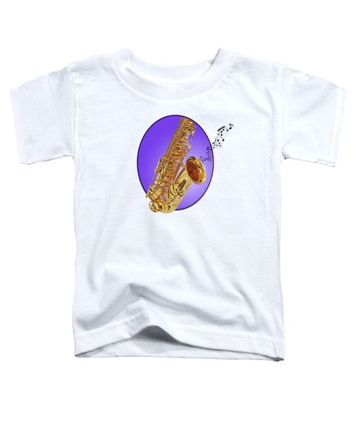 Sounds Of The Sax In Purple Toddler T-Shirt