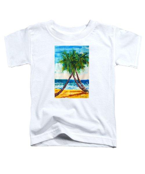 South Beach Palms Toddler T-Shirt