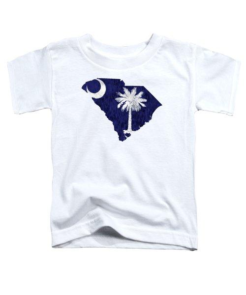 South Carolina Map Art With Flag Design Toddler T-Shirt