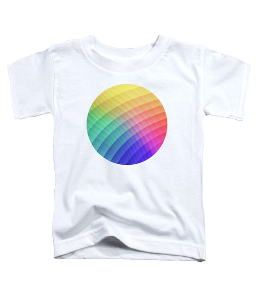 Spectrum Bomb Fruity Fresh Hdr Rainbow Colorful Experimental Pattern Toddler T-Shirt