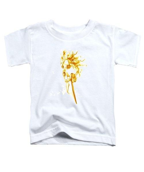 Ghostly Smoke - Orange Toddler T-Shirt