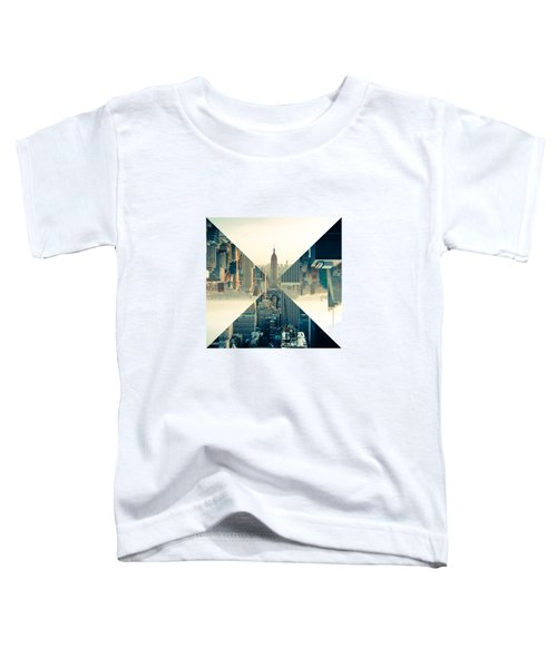 Split Skyline Ny Toddler T-Shirt by Jamie Kingswood