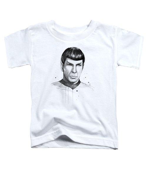 Spock Watercolor Portrait Toddler T-Shirt