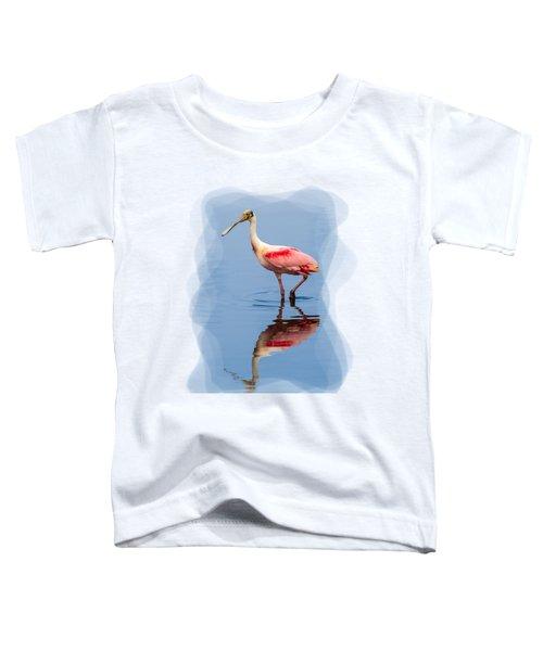 Spoonbill 3 Toddler T-Shirt by John M Bailey