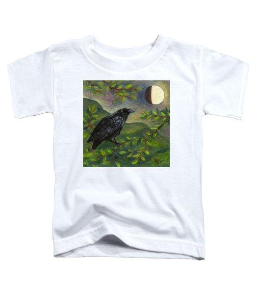 Spring Moon Raven Toddler T-Shirt