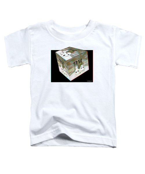 Square Meal - Use Red-cyan 3d Glasses Toddler T-Shirt