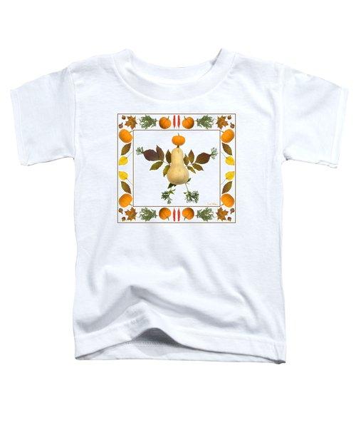 Squash With Pumpkin Head Toddler T-Shirt