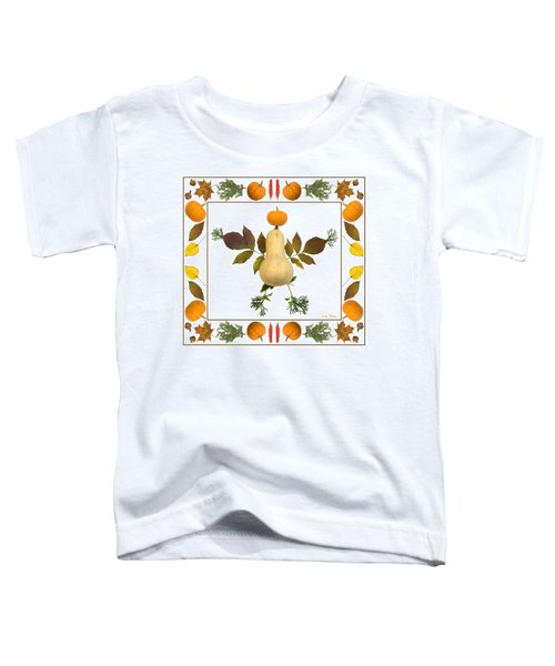 Squash With Pumpkin Head Toddler T-Shirt