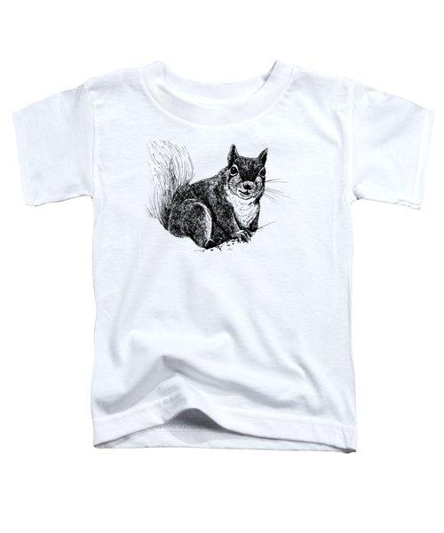 Squirrel Drawing Toddler T-Shirt by Katerina Kirilova