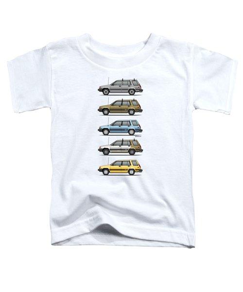 Stack Of Mark's Toyota Tercel Al25 Wagons Toddler T-Shirt