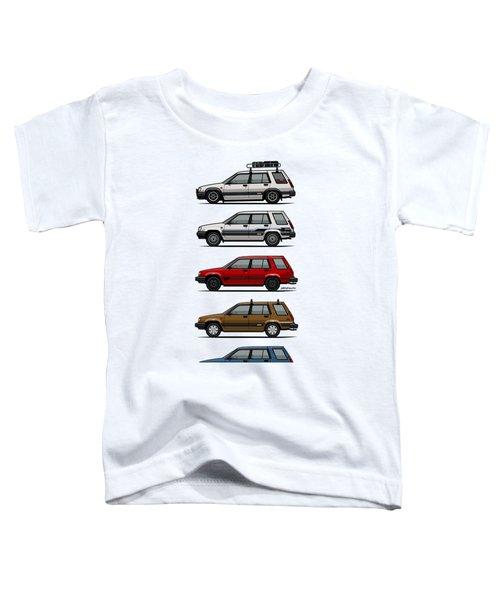 Stack Of Toyota Tercel Sr5 4wd Al25 Wagons Toddler T-Shirt