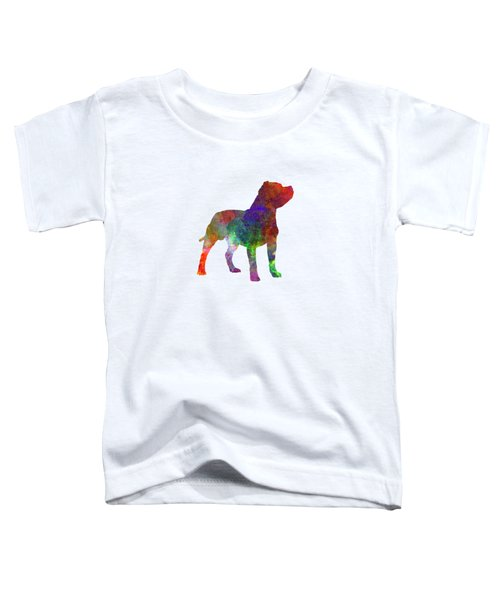 Staffordshire Bull Terrier In Watercolor Toddler T-Shirt by Pablo Romero