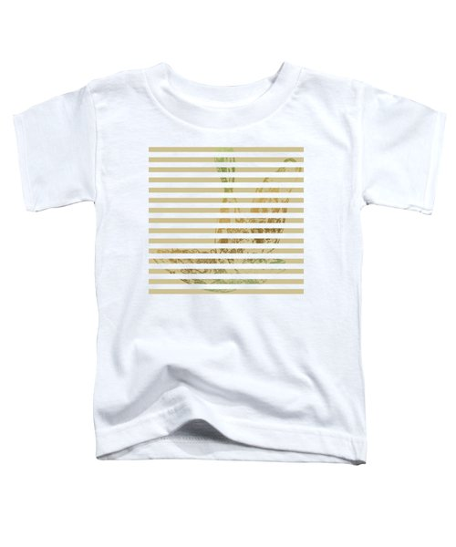 Stamped Bird With Beige Lines Toddler T-Shirt