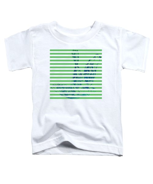 Stamped Bird With Green Lines Toddler T-Shirt