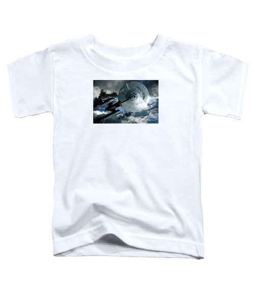 Star Trek Into Darkness, Original Mixed Media Toddler T-Shirt by Thomas Pollart