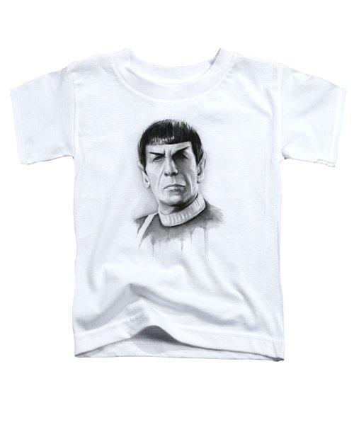 Star Trek Spock Portrait Toddler T-Shirt by Olga Shvartsur