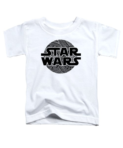 Star Wars Art - Logo - Black Toddler T-Shirt