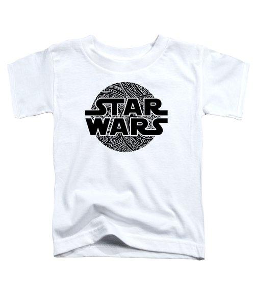Star Wars Art - Logo - Black Toddler T-Shirt