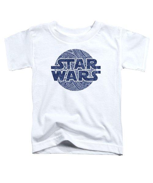 Star Wars Art - Logo - Blue Toddler T-Shirt