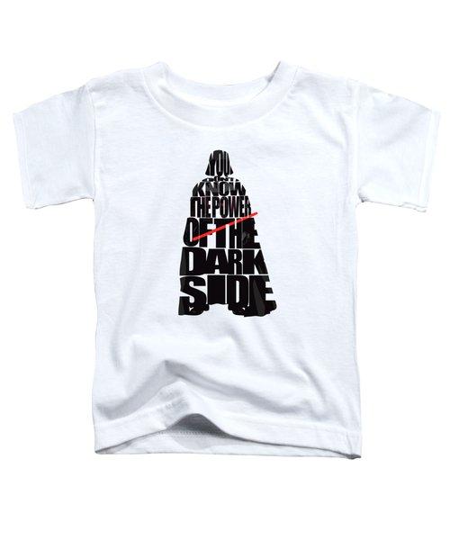 Star Wars Inspired Darth Vader Artwork Toddler T-Shirt