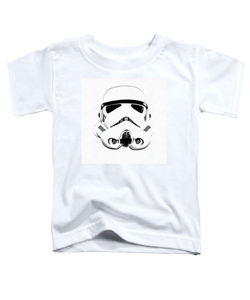 Star Wars Stormtrooper Helmet Graphic Drawing Toddler T-Shirt