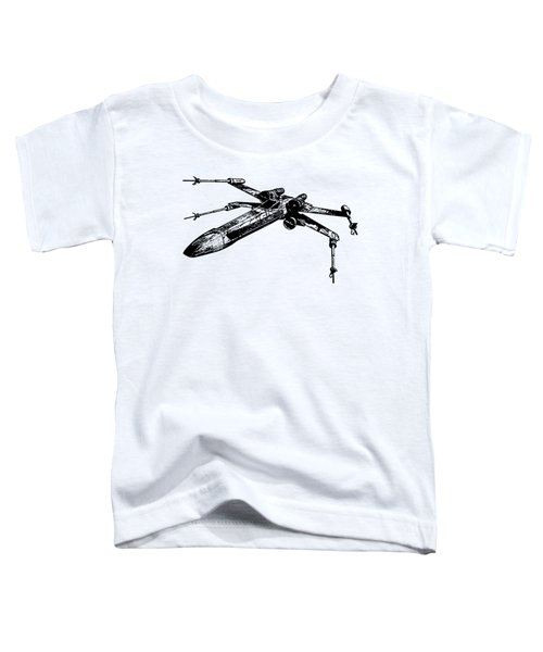 Star Wars T-65 X-wing Starfighter Tee Toddler T-Shirt by Edward Fielding