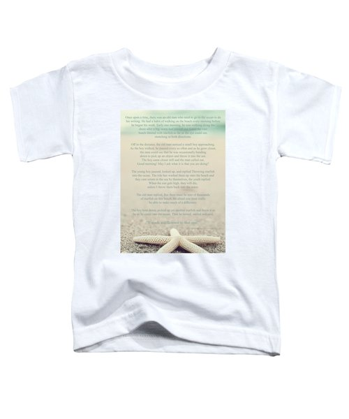 Starfish Make A Difference Vintage Set 1 Toddler T-Shirt