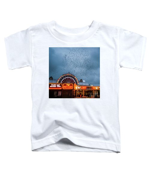 Starlings Over The Neon Lights Of Aberystwyth Pier Toddler T-Shirt