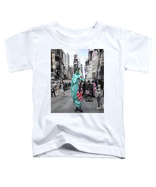 Statue Of Liberty Guy Toddler T-Shirt