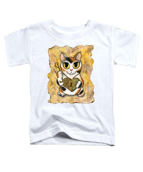 Steampunk Valentine Cat Toddler T-Shirt