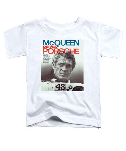 Steve Mcqueen Drives Porsche Toddler T-Shirt