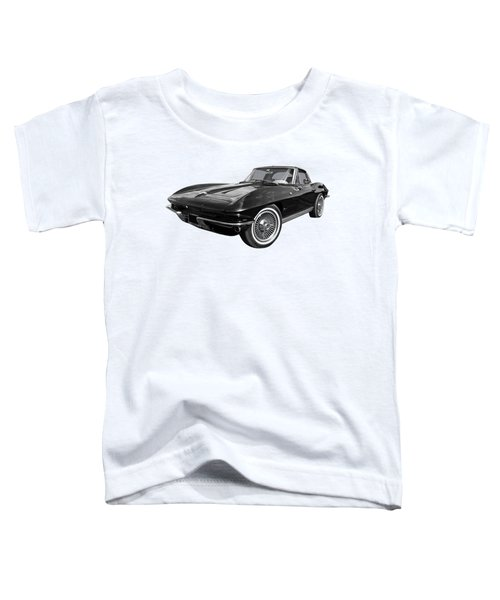 Stingray 1963 Split Window In Black And White Toddler T-Shirt